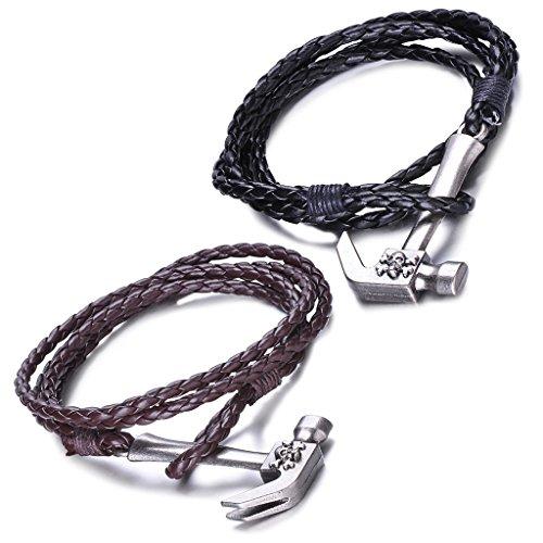 infinite-u-punk-rock-mens-womens-leather-braided-multi-strands-bracelet-with-hammer-skull-alloy-clas