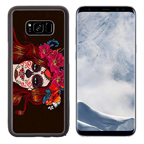 Liili Premium Samsung Galaxy S8 Plus Aluminum Backplate Bumper Snap Case ID: 24776313 Girl With Sugar Skull Day of the Dead ()