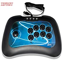 XFUNY Fighting Stick Arcade Joystick 8 Action Buttons Street Fighter Game Stick for Xbox 360