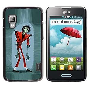 Caucho caso de Shell duro de la cubierta de accesorios de protección BY RAYDREAMMM - LG Optimus L5 II Dual E455 E460 - Halloween Funny Thriller