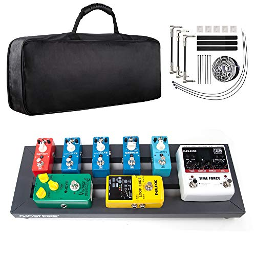 Pedal Board, Guitar Effects Pedal Board Aluminum Alloy Small Lightweight Portable Electric Guitar Board, 19.53 x 7.1 x 1.57 inch, by Vangoa [UPGRADE]