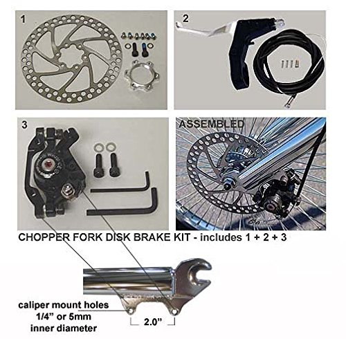 Chopper Bicycle Fork Disc Brake Conversion Kit