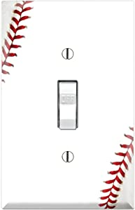 Graphics Wallplates - Baseball - Single Toggle Wall Plate Cover