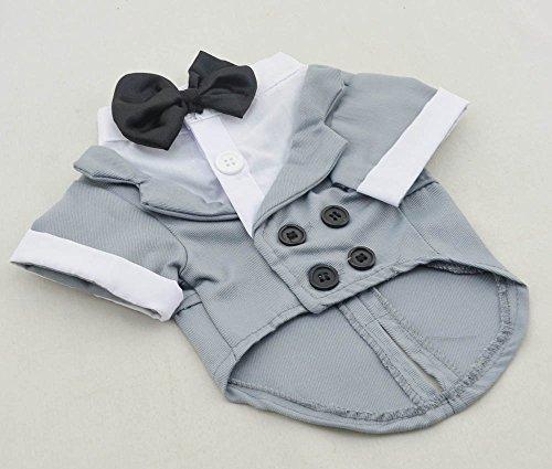 Grey Formal Dog Tuxedo Costume 7.5
