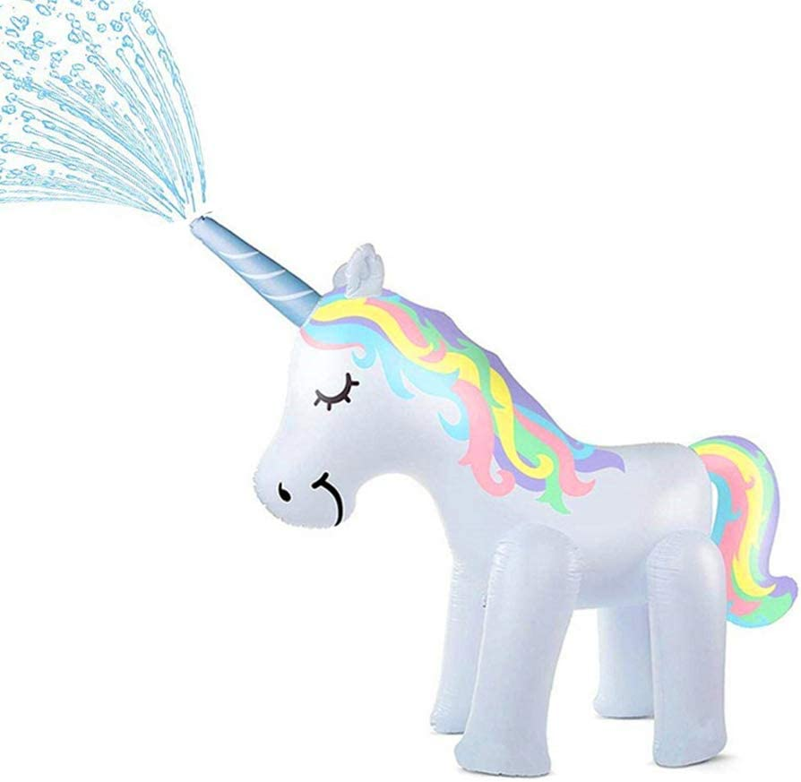penban Unicorn Sprinkler Inflatable Water Toys for Outside, Kids Water Sprinklers for Backyard,Fun Sprinkler for Kids(Unicorn Sprinkler 5.3 ft High)