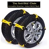 Car Snow Tire Chains Most Cars Anti-Slip Car Chains Car Emergency Chains All Season Anti-Skid Snow Cables Car Cables SUV Tire Cables Emergencies (S (Tire Width:145MM- 175MM))