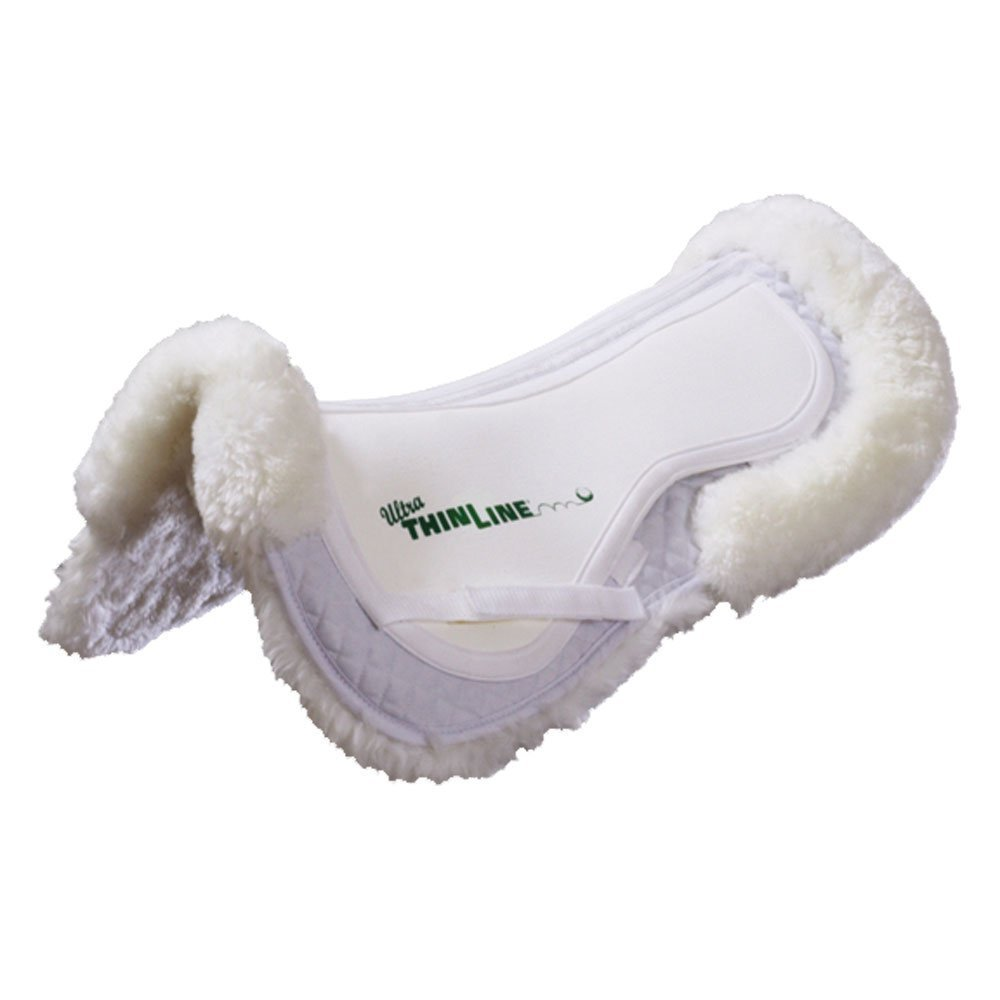 White Large White Large ThinLine Ultra Sheepskin Comfort Half Pad