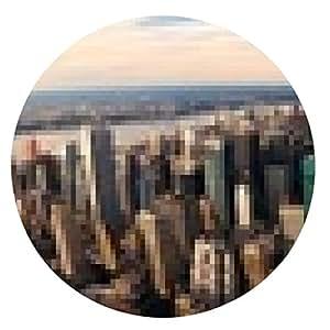 alfombrilla de ratón Nueva York panorama de la puesta del sol - ronda - 20cm