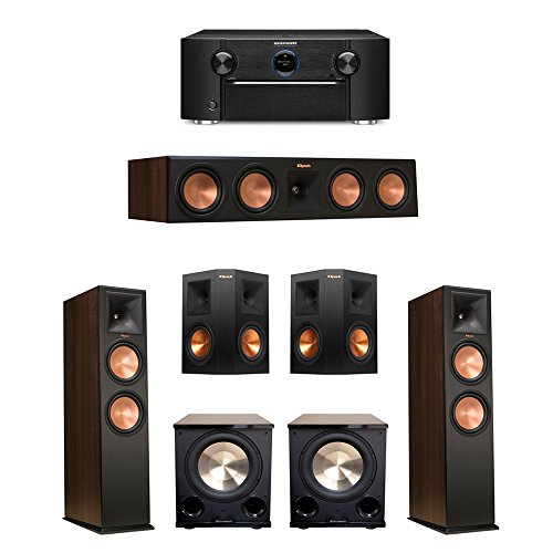 Klipsch 5.2 Walnut System with 2 RP-280F, 1 RP-450C Center S