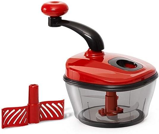 DLINMEI Picadora Manual de Alimentos, trituradora de Frutas/trituradora/mezcladora de Frutas Vegetales de Uso Manual, procesador de Alimentos para ajo apio, Rojo: Amazon.es