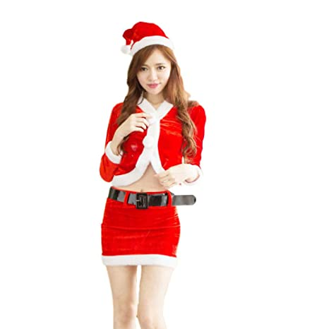 Yunfeng Disfraces de Papá Noel para Mujer Uniforme de ...