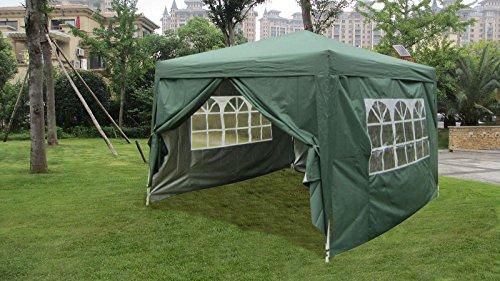 10x10-EZ-Pop-UP-Wedding-Party-Tent-Folding-Gazebo-Camping-Canopy-W-Sides