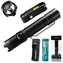 Olight M1X Striker 1000 Lumens Cree Xm-l2 LED Flashlight With Attack Head With 3400mAh Battery and Battery charger and SKYBEN Holster