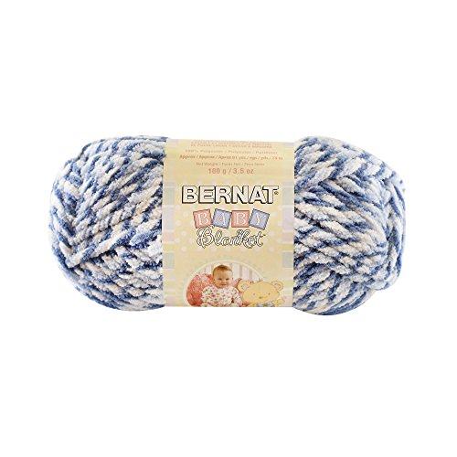 Bernat Baby Blanket Twist Yarn, 3.5 Ounce, Blue Twist, Singl