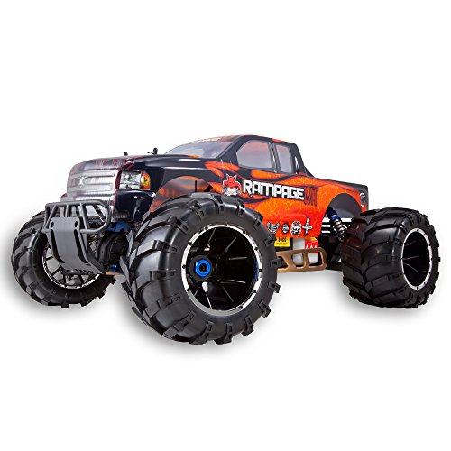 Redcat Racing Rampage MT V3 Gas Truck (1/5 Scale), Orange/Flame ()