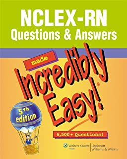 Nclex rn questions and answers made incredibly easy 9781451185492 nclex rn questions answers made incredibly easy incredibly easy series fandeluxe Image collections