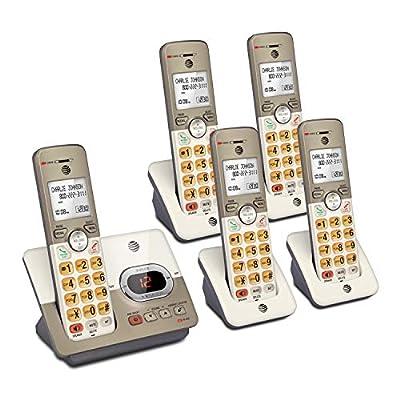 AT&T EL52513 5-Handset Expandable Cordless Phone Answering System & XL Backlit Keys