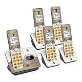 AT&T EL52513 5-Handset Expandable Cordless Phone with Answering System & Extra-Large Backlit Keys