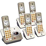 AT&T EL52513 5-Handset Expandable Cordless Phone Answering System & XL Backlit Keys