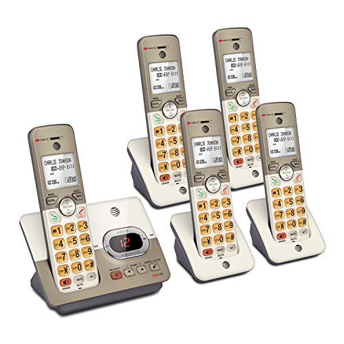 - AT&T EL52513 5-Handset Expandable Cordless Phone with Answering System & XL Backlit Keys