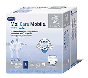 Molicare Mobile Extra, Adult Absorbent Underwear Pull On Heavy Absorbency(14 Pack) (
