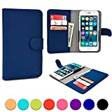BlackBerry Z3 / Z30 / Leap phone case, COOPER SLIDER Mobile Cell Phone Wallet Protective Case Cover Casing with Open Camera & Credit Card Holder for BlackBerry Z3 / Z30 / Leap (Blue)
