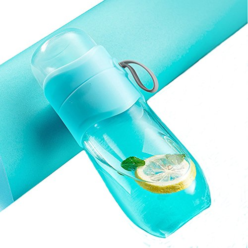 Fashion cute popular Girls Boys Drinking Water Bottle Couples Travel mugs Tea Infuser - Tea Tumbler Tea Cup with Loose Leaf Tea Strainer – Fruit Infuser - Glass Water Bottle 11OZ (Blue)