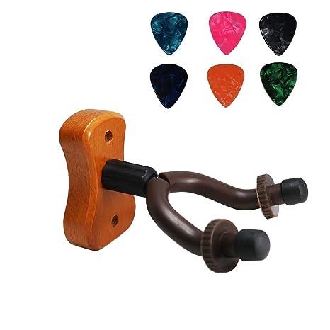 MOREYES Soporte de pared para guitarra acústica, guitarra clásica, bajo, guitarra eléctrica,