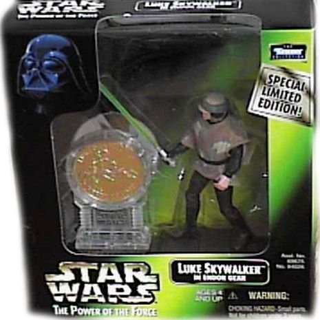 Star Wars: Power of the Force Millenium Coin Edition Luke Skywalker in Endor Gear Action Figure