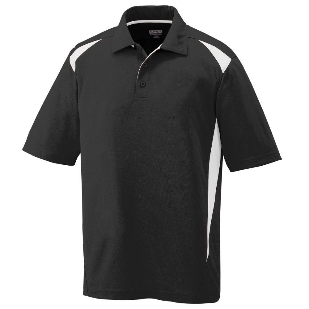 Augusta Sportswear Augusta Premier Polo, Black/White, Large