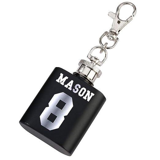 Mini petaca de fútbol con nombre y número, llavero de regalo ...