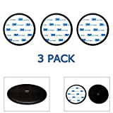 3-Pack Ramtech 90mm (3.5'') 3M PE Foam Tape Car Dash Dashboard Adhesive Sticky Suction Cup Mount Disc Disk Pad For GPS / Mobile Cell Phone / Car DVR / MP4 / Tablet PC / Car DVR / MP4 / E-book.- DMD90