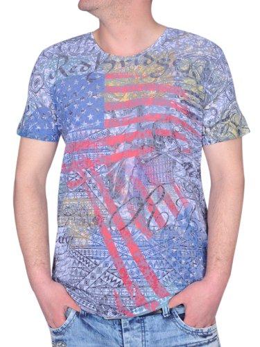 Redbridge / Cipo & Baxx Herren Rundhals T-Shirt Shirt 2037 blau Größe M