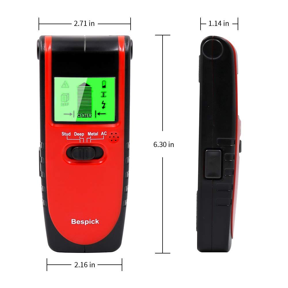 Stud Finder Stud Detector Bespick Wall Stud Sensor, 4-in-1 Metal AC Wire  Stud Wall Detector, Cable Detector Wall Wire Detector Wood Finder,