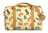 Cute Funny Cats Pattern Print Oversized Canvas Duffle Luggage Travel Bag WAS_42 For Sale