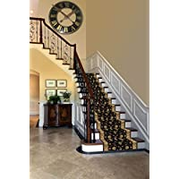 Custom Cut To Size Elegant Triumph Stair & Hallway Runner Non-Slip (Non-Skid) Runner Rug 26 Wide You Select Your Length (24 Ft, Black)