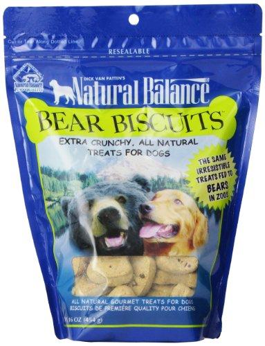 Natural Balance All Natural Bear Biscuit Dog Treats, 16-Ounce Bag