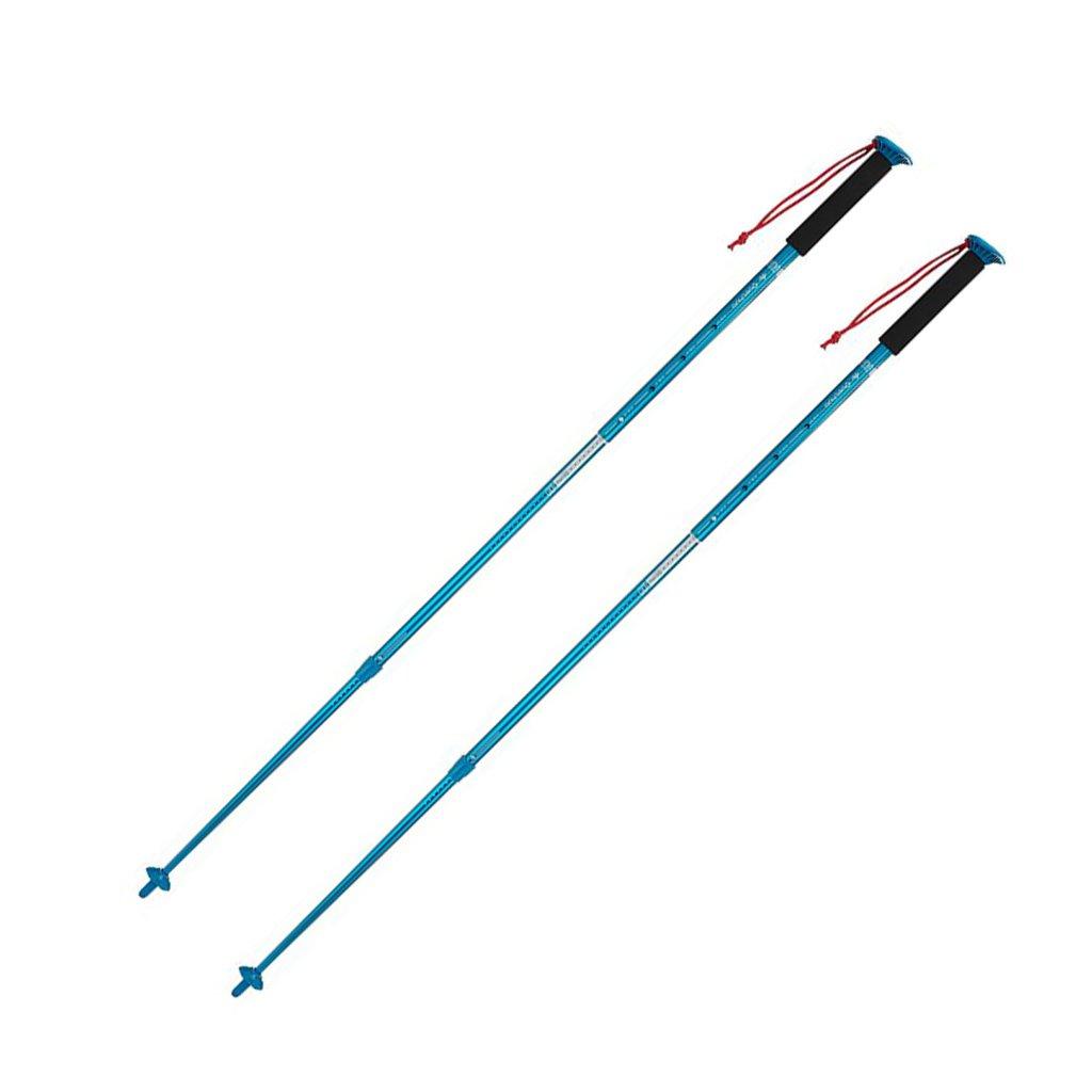 Brilliant firm Einziehbare Trekkingstöcke im Freien Leichter zusammenklappbarer Mehrzweck-Wanderstock (Farbe   Blau, Größe   ×2)