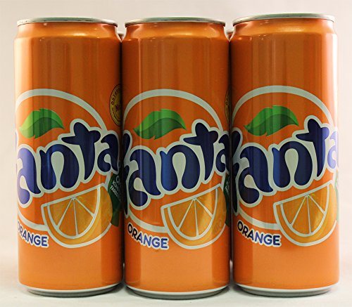Fanta Orange Soda (European Import) (6 x 0.33 L Cans)