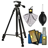 Nikon 60'' Full Size Tripod with 3-Way Panhead (Black) + Cleaning Kit for Digital SLR Cameras & Lenses