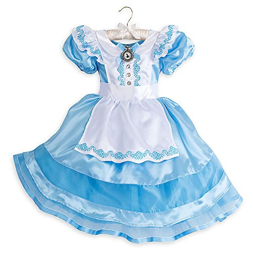 Disney Alice Classic Costume Kids - Alice in Wonderland (Alice In Wonderland Blue Flower Dress Costume)