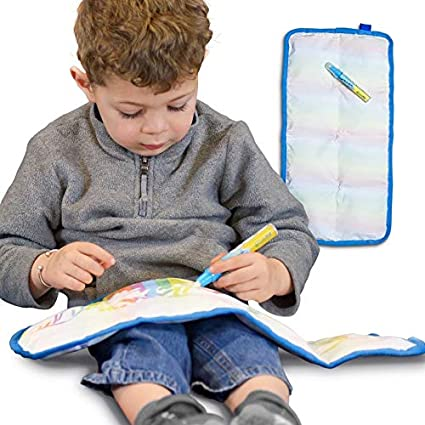 Writable Weighted Lap Pad For Kids 10x203 Lbsweighted Lap Blanket With Water Drawing Mat Feature Travel Weighted Blanket For Kids On The Road