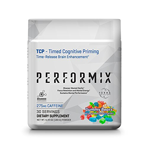 PERFORMIX TCP Powder, Timed Cognitive Priming, Sharper Mental Clarity, Focus and Memory – 30 Servings Gummy Bears Review