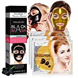 Scuddles - 24KT Gold Bio-Collagen Facial Masks 3 SETS Nourishing And Exfoliating, Anti-Aging With...