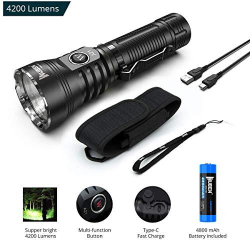 Wuben A21 Taschenlampe LED Taschenlampe 4200 Lumen Super Helle CREE XHP70 LED...