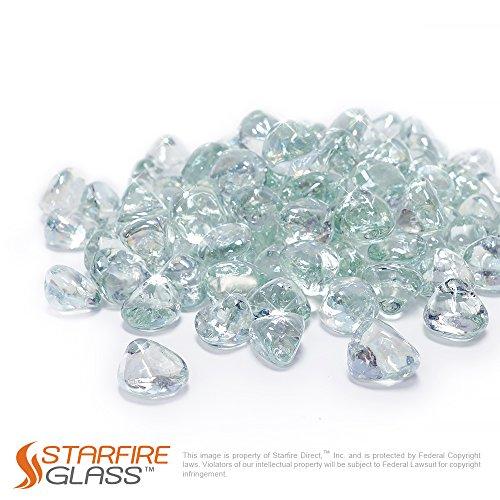 Diamond Crystal Pellets - Starfire Glass 10-Pound Fire Glass 1-Inch Crystal Ice Reflective Fire-Diamonds