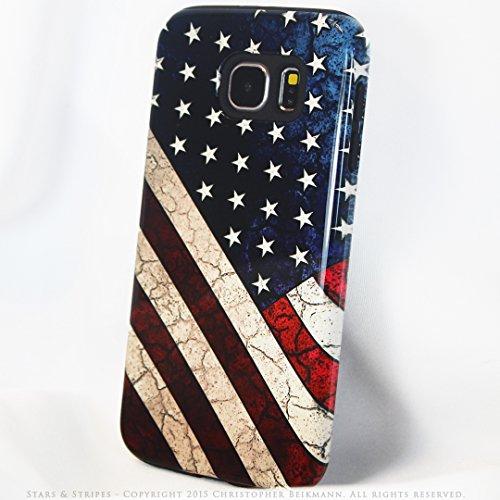 Premium Artistic Flag Galaxy S6 TOUGH Case - Stars and Stripes - Artistic Galaxy S 6 Case By Da Vinci Case