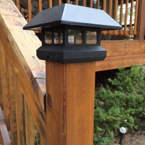 Veranda 4 in. x 4 in. Black Solar-Powered Post Cap for Deck or Fence, Black (12 PACK) by Veranda (Image #5)