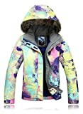 APTRO Women's High Windproof Technology Colorfull Printed Ski Jacket Style #21 Size S