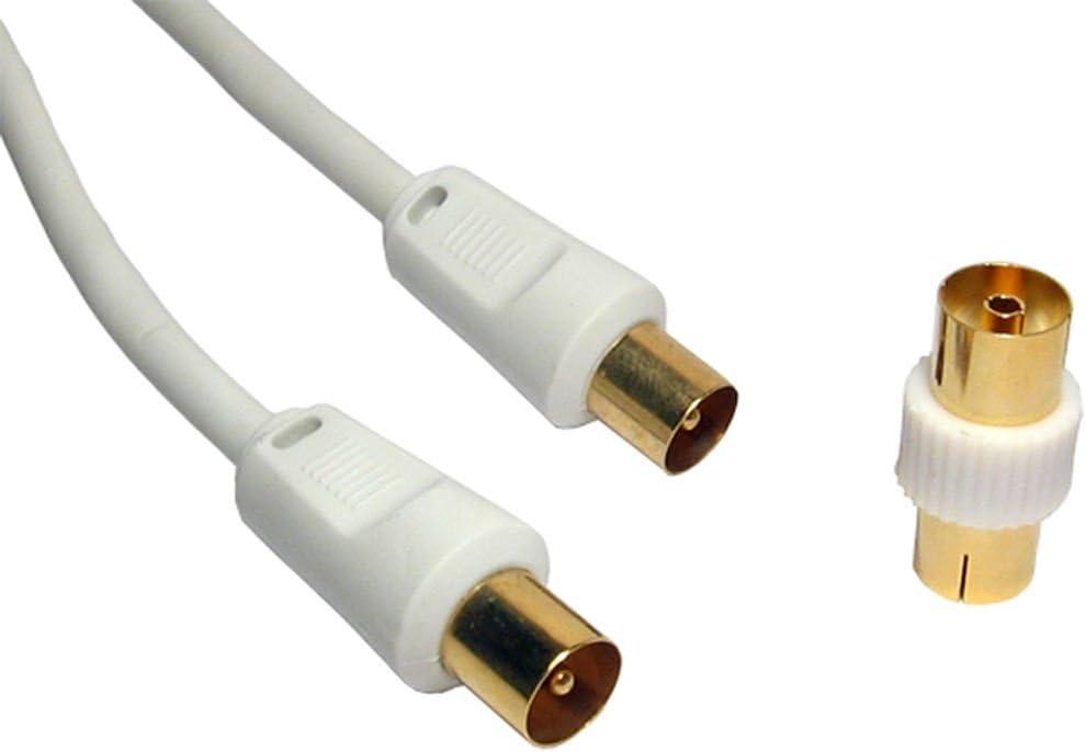20m Cable coaxial ~ 24k chapado en oro ~ macho a macho (MM) ~ LIBRE hembra a hembra (FF) acoplador